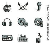 disco or club icons freehand 2... | Shutterstock .eps vector #692327968
