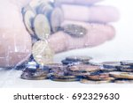 double exposure of city and... | Shutterstock . vector #692329630