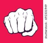 punching fist hand vector  | Shutterstock .eps vector #692331949