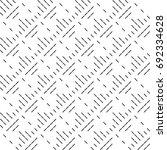 black diagonal dashed lines... | Shutterstock .eps vector #692334628
