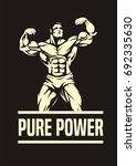 bodybuilder  front double... | Shutterstock .eps vector #692335630
