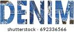 Denim Word From Denim Blue...