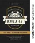 oktoberfest beer festival... | Shutterstock .eps vector #692340613