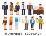 flat design illustration... | Shutterstock .eps vector #692343424