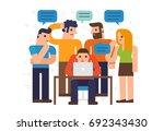 flat design illustration... | Shutterstock .eps vector #692343430