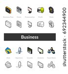 set of isometric icons in... | Shutterstock .eps vector #692344900