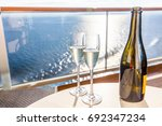 champagne bottle and flutes... | Shutterstock . vector #692347234