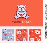 vector logo design template and ... | Shutterstock .eps vector #692348320