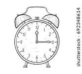 retro alarm clock. hand drawn... | Shutterstock .eps vector #692348614