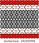 vector easy geometric floral... | Shutterstock .eps vector #692354998