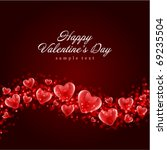 valentine's day or wedding... | Shutterstock .eps vector #69235504
