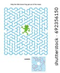 maze game or activity page ... | Shutterstock .eps vector #692356150