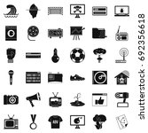 multimedia icons set. simple... | Shutterstock .eps vector #692356618