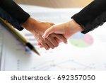 trade agreements business... | Shutterstock . vector #692357050