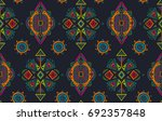 vector hand drawn ethnic... | Shutterstock .eps vector #692357848
