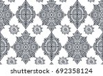 black and white ethnic tribal... | Shutterstock .eps vector #692358124