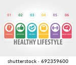 healthy lifestyle concept | Shutterstock .eps vector #692359600