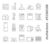 kitchen technology linear icons....   Shutterstock .eps vector #692360188