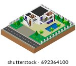 luxury house. building.... | Shutterstock .eps vector #692364100