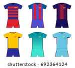 football kit set. barcelona | Shutterstock .eps vector #692364124