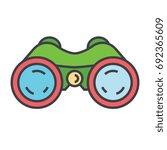 binoculars  periscope  vision ... | Shutterstock .eps vector #692365609