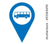 bus parking pinpoint blue and... | Shutterstock .eps vector #692365690