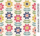 cute flowers. seamless vector... | Shutterstock .eps vector #692365930