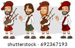 cartoon bearded scottish man in ... | Shutterstock .eps vector #692367193