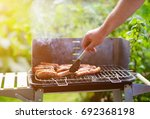 Barbecue Grill With Various...