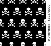 seamless pattern with skull and ... | Shutterstock .eps vector #692370070