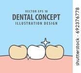 enamel tooth swollen... | Shutterstock .eps vector #692376778