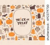 halloween collection. halloween ... | Shutterstock .eps vector #692379730
