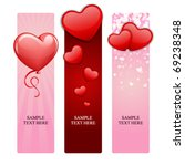 valentine's day banners set 15 | Shutterstock .eps vector #69238348