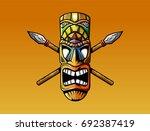 tiki mask | Shutterstock .eps vector #692387419
