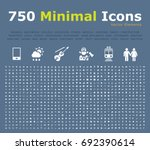 set of 750 universal icons.... | Shutterstock .eps vector #692390614
