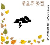 web icon. haze  storm   clouds. ...