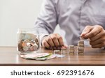 investor and accountant concept ... | Shutterstock . vector #692391676