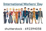 international worker's day....   Shutterstock . vector #692394058