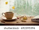 cup of autumn tea  coffee ... | Shutterstock . vector #692395396