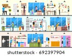 furniture store interior.... | Shutterstock . vector #692397904