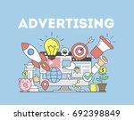 advertising concept... | Shutterstock . vector #692398849