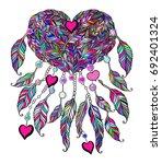 ethnic illustration  tribal...   Shutterstock .eps vector #692401324