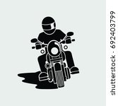 Motorcycle Front View. Vector....