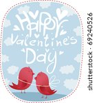 two birds with inscriptions... | Shutterstock .eps vector #69240526