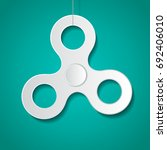 vector simple hand spinner icon.... | Shutterstock .eps vector #692406010