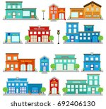 vector collection of cute fire... | Shutterstock .eps vector #692406130
