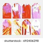 hand drawn creative tags.... | Shutterstock .eps vector #692406298