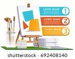 watercolor painting step info... | Shutterstock .eps vector #692408140