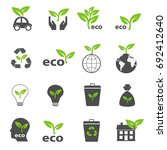ecology and nature green icons... | Shutterstock .eps vector #692412640