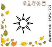 web icon. sun. vector...